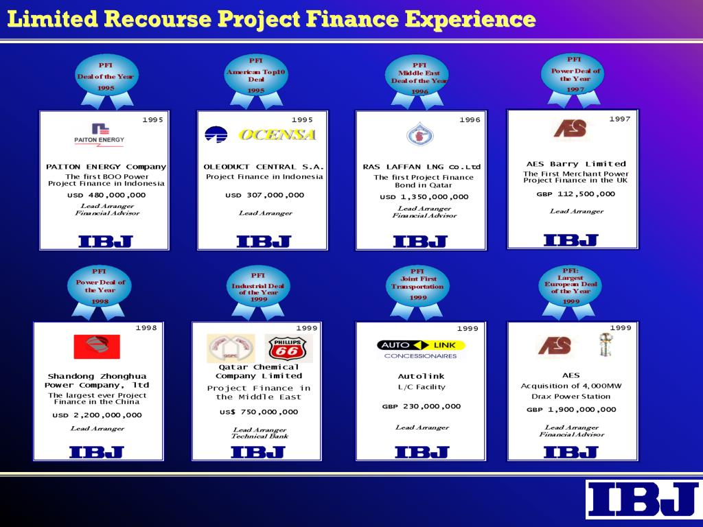 Limited Recourse Project Finance Experience