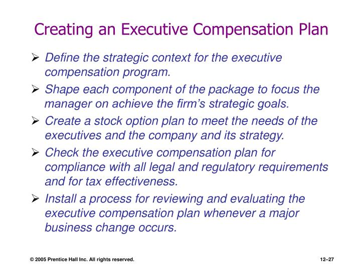 Creating an Executive Compensation Plan