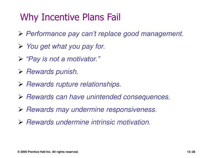 Why Incentive Plans Fail