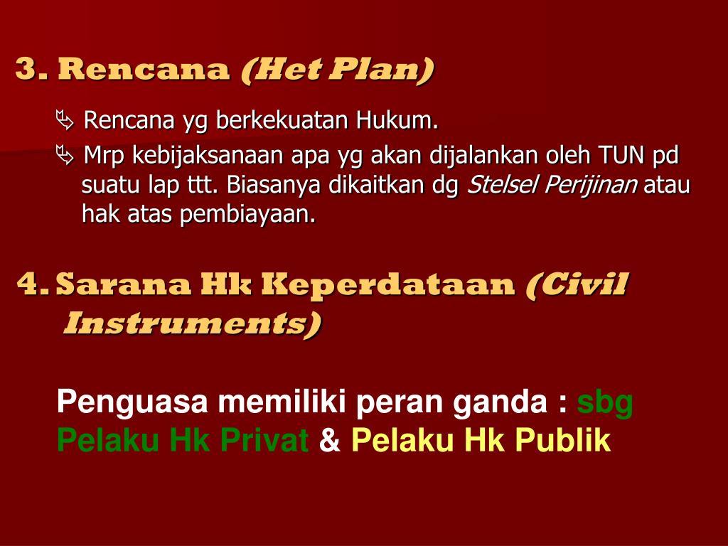 3. Rencana