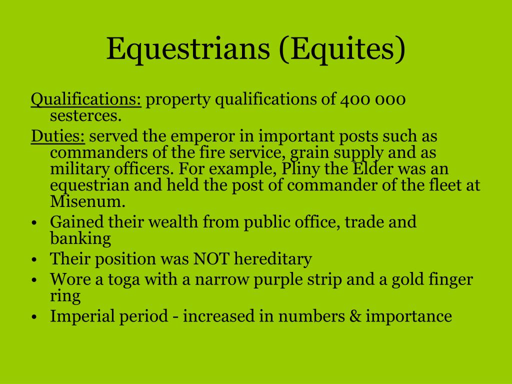 Equestrians (Equites)
