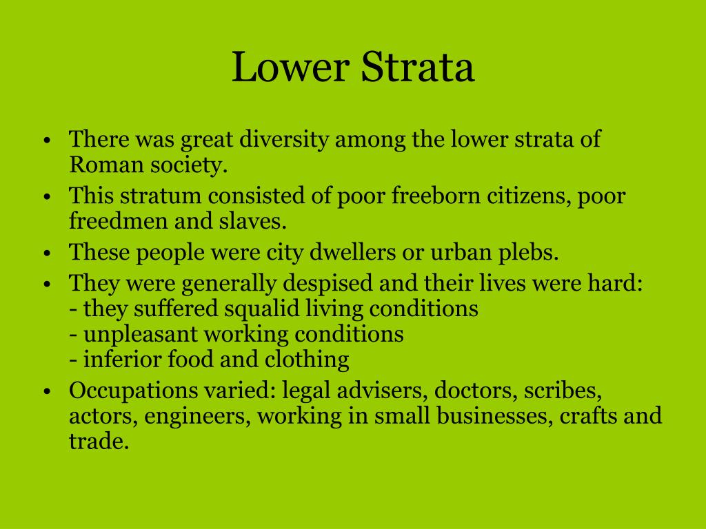 Lower Strata