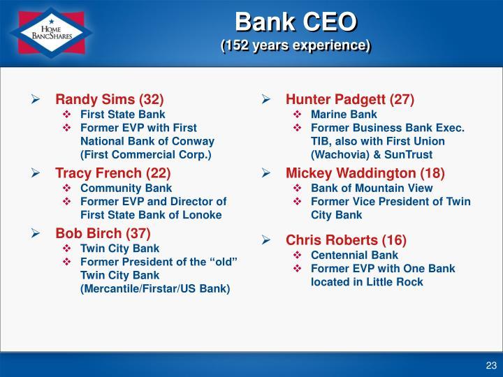 Bank CEO