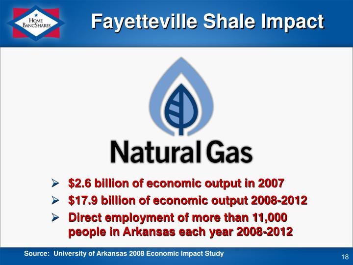 Fayetteville Shale Impact