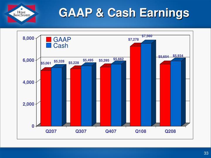 GAAP & Cash Earnings