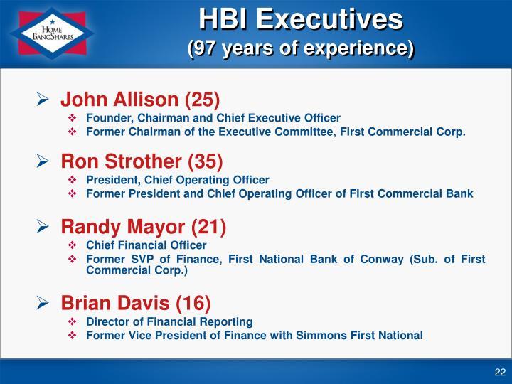 HBI Executives