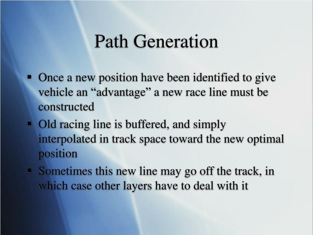 Path Generation