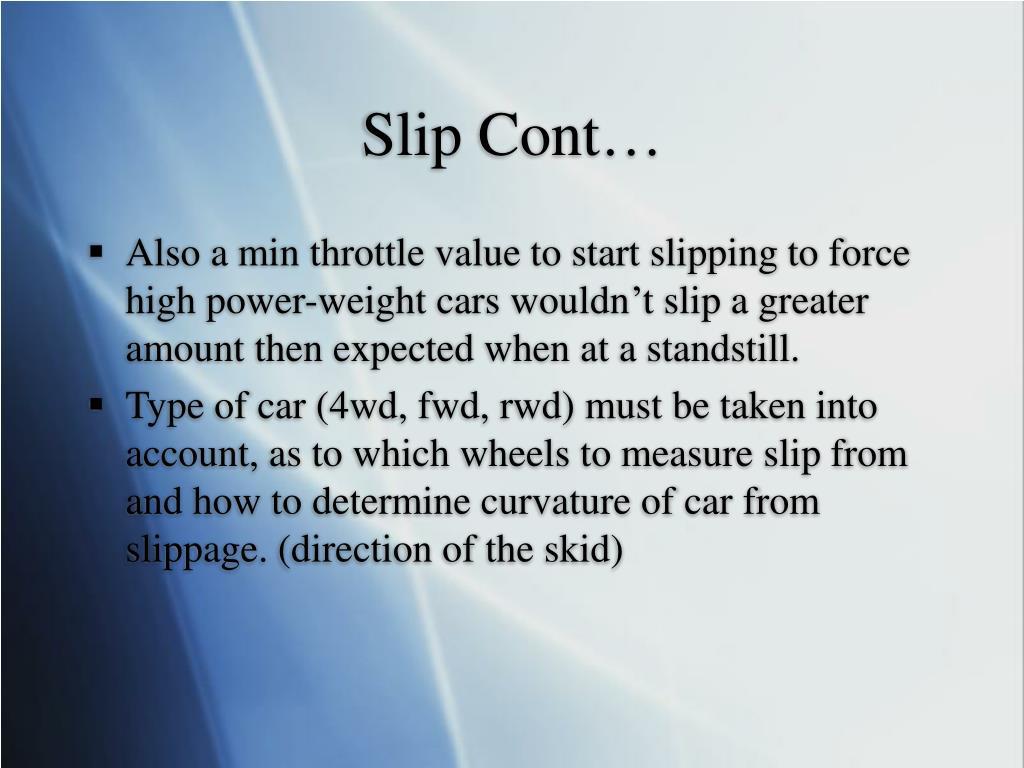Slip Cont…
