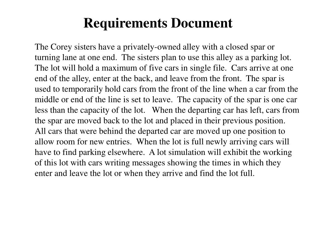 Requirements Document