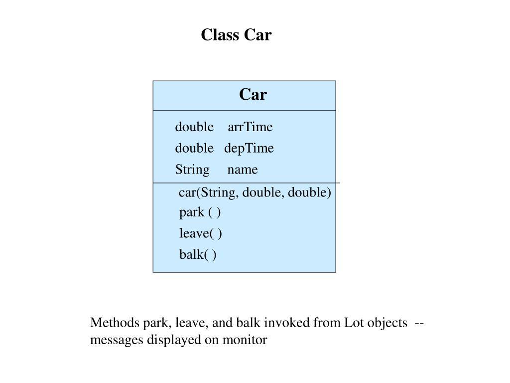 Class Car