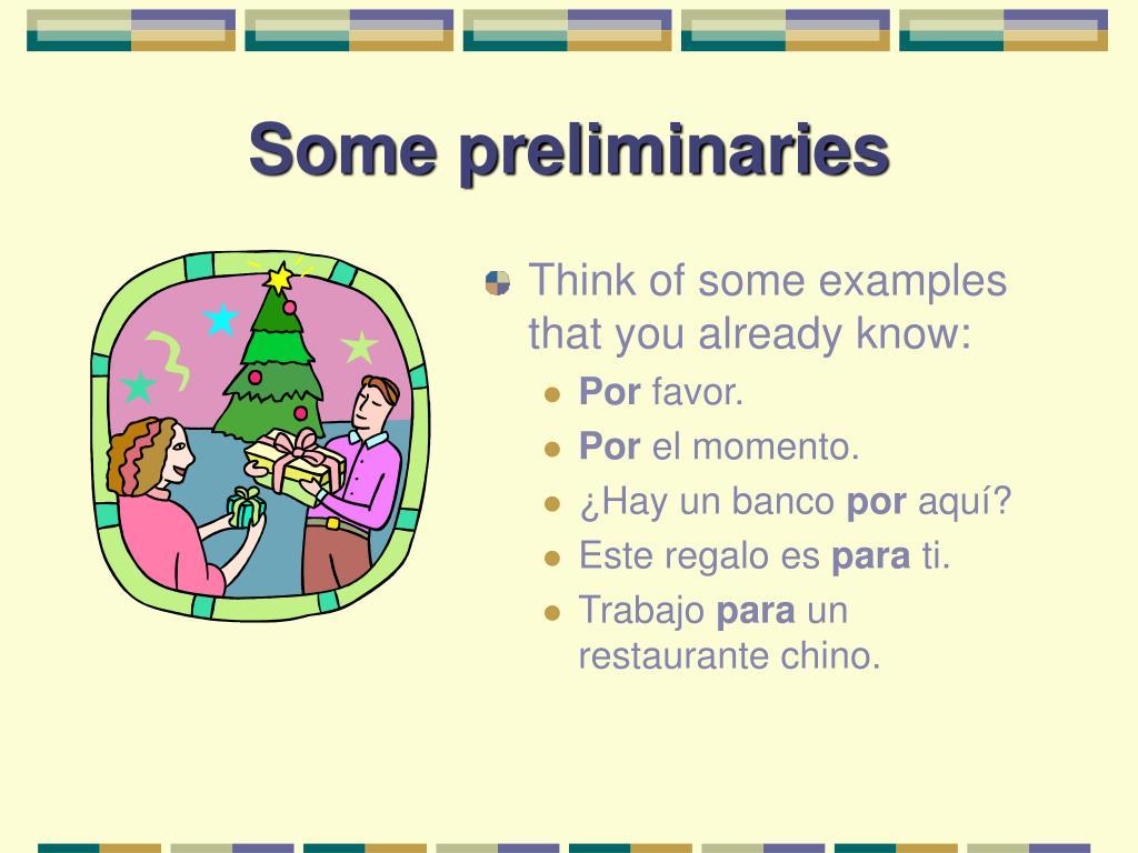 Some preliminaries