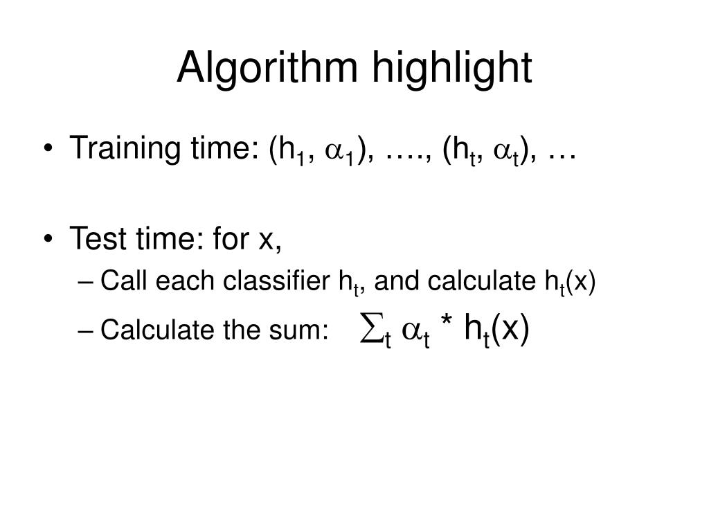 Algorithm highlight