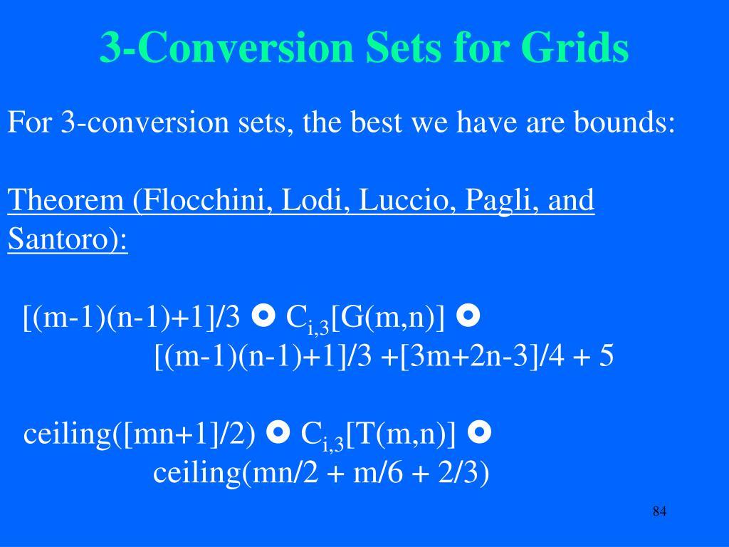 3-Conversion Sets for Grids