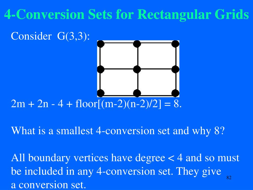 4-Conversion Sets for Rectangular Grids