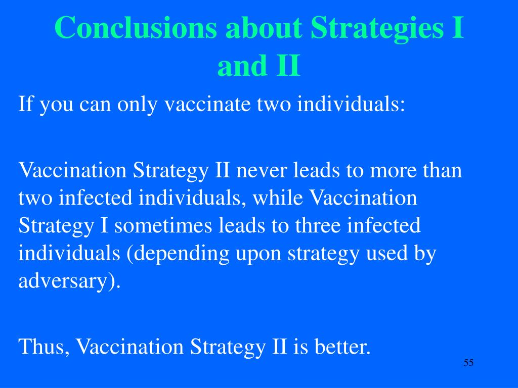 Conclusions about Strategies I and II