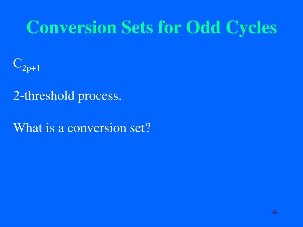 Conversion Sets for Odd Cycles