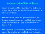 k conversion sets in trees74