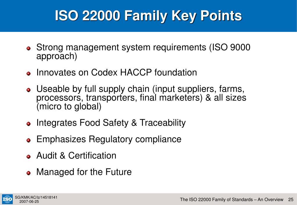 ISO 22000 Family Key Points