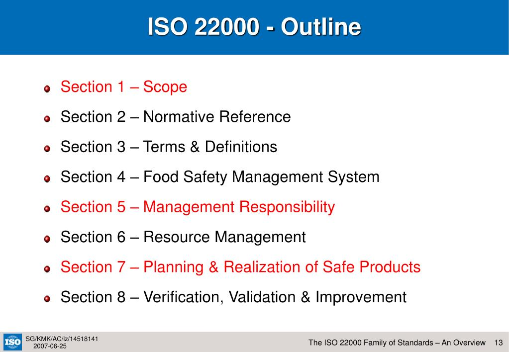 ISO 22000 - Outline