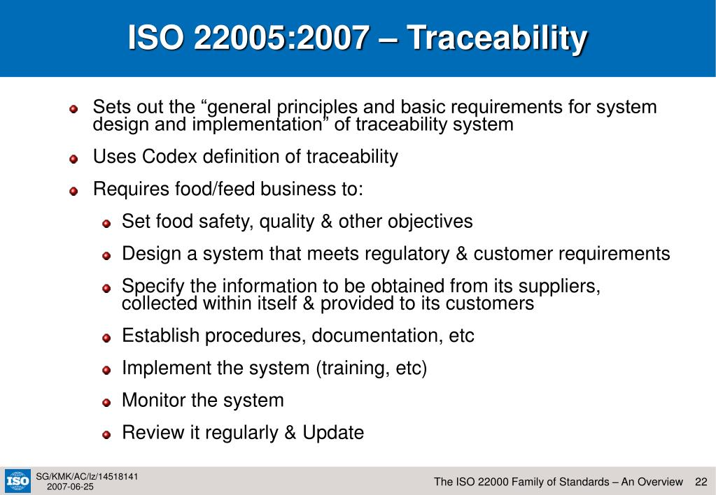 ISO 22005:2007 – Traceability