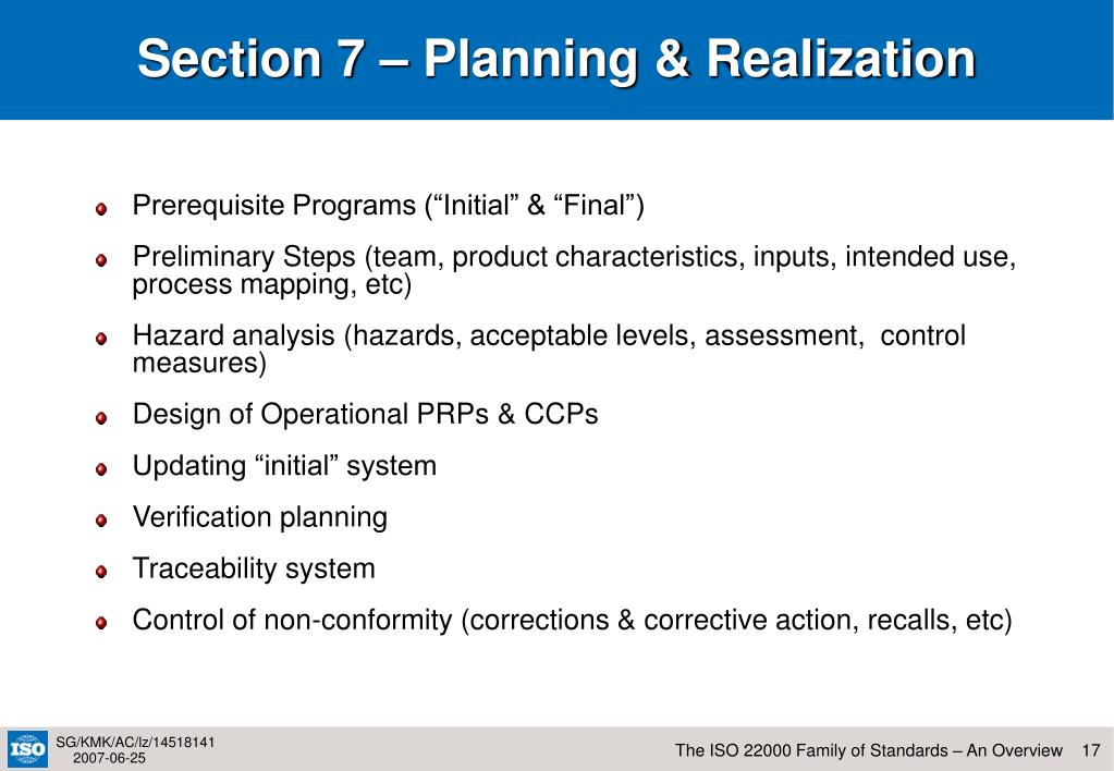 Section 7 – Planning & Realization