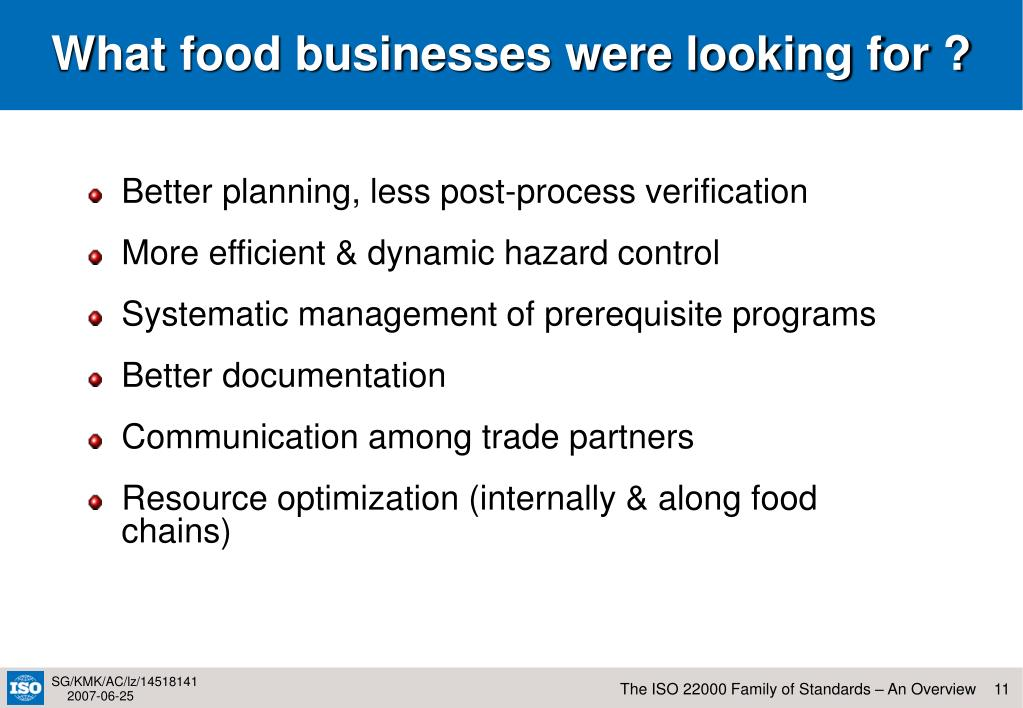 What food businesses were looking for ?