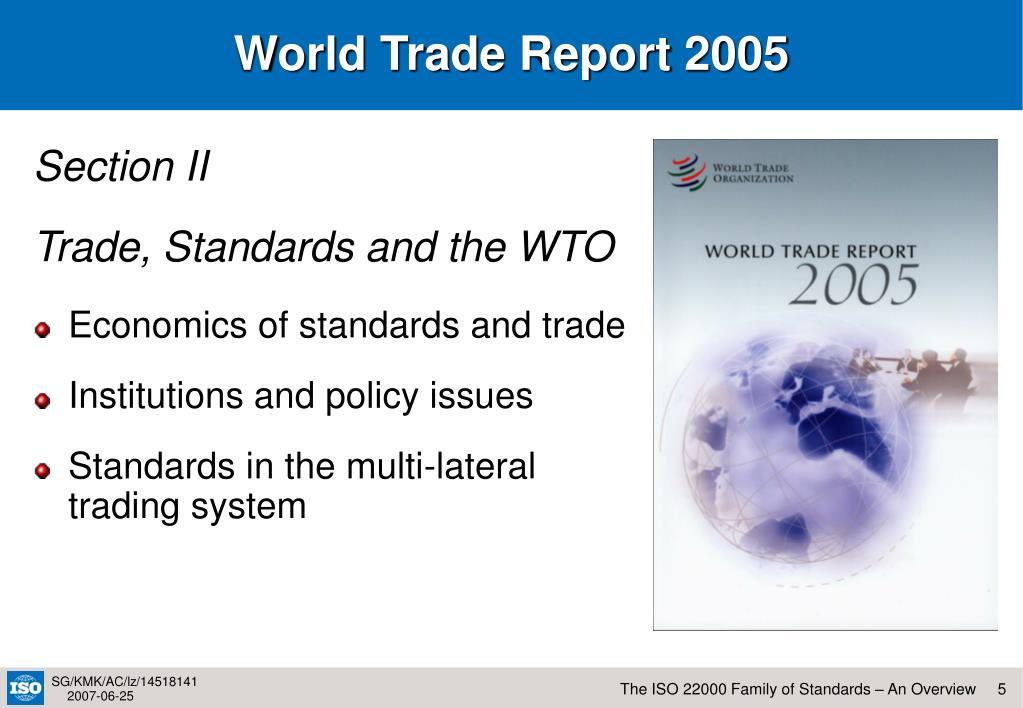World Trade Report 2005