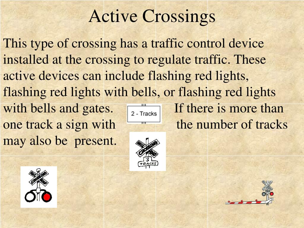 Active Crossings