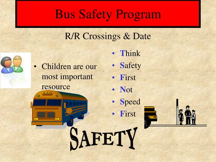 Bus safety program