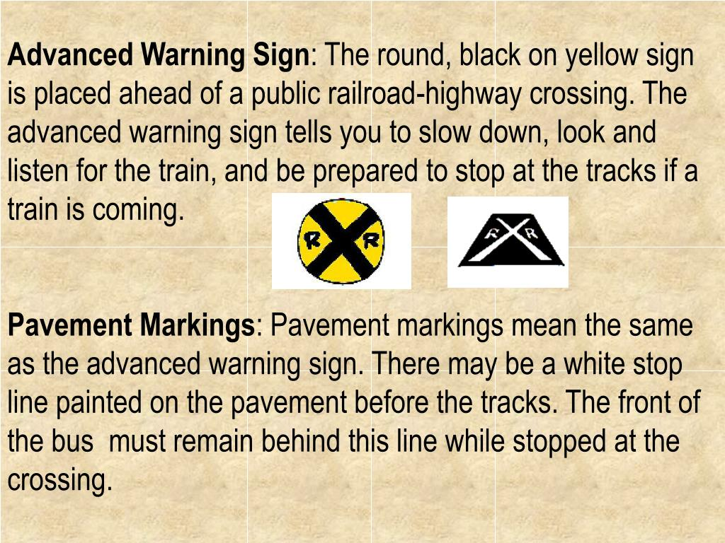 Advanced Warning Sign