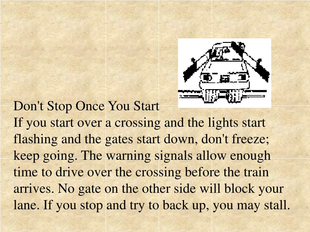 Don't Stop Once You Start