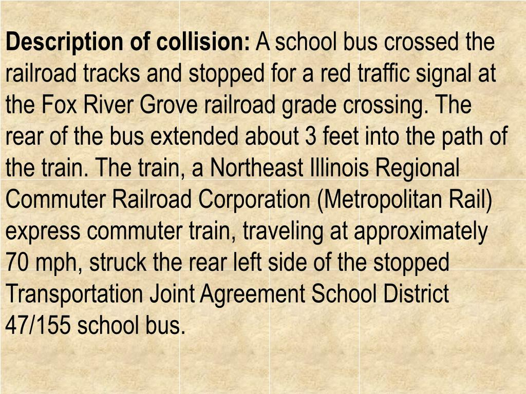 Description of collision: