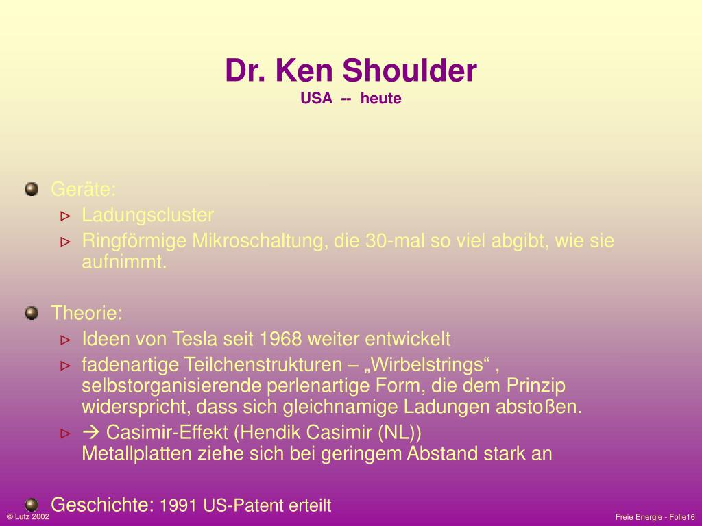 Dr. Ken Shoulder