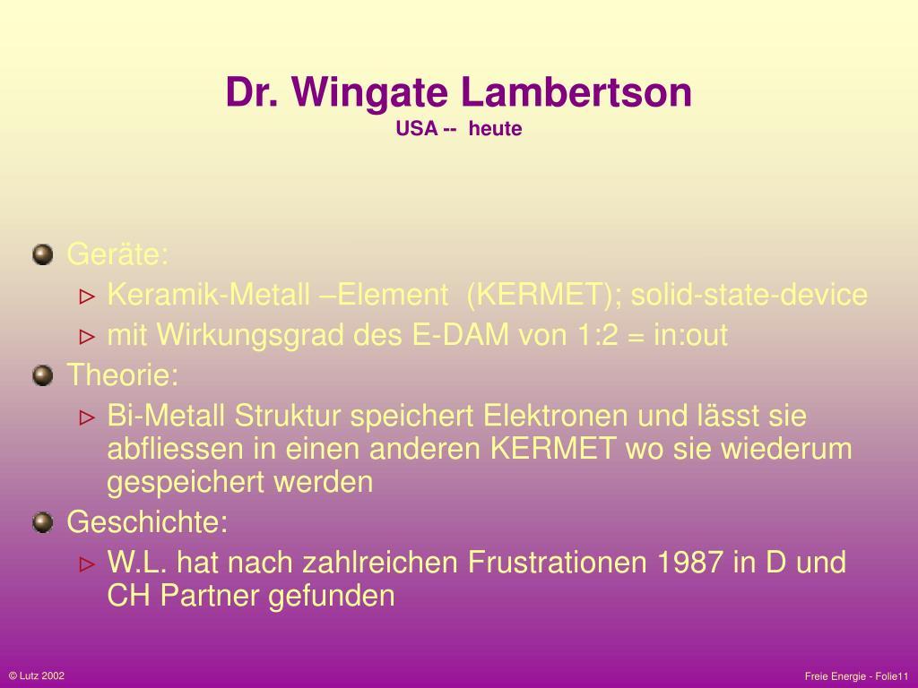 Dr. Wingate Lambertson