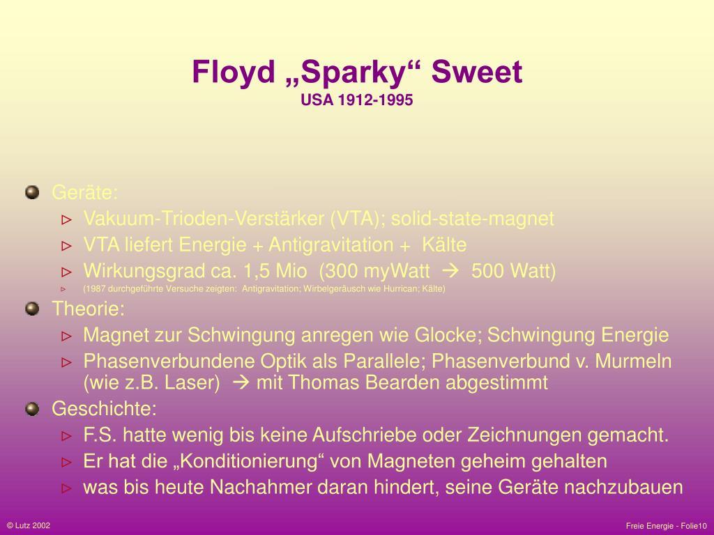 """Floyd """"Sparky"""" Sweet"""