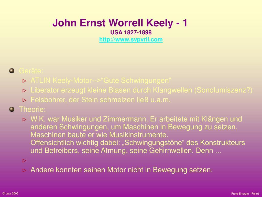 John Ernst Worrell Keely - 1