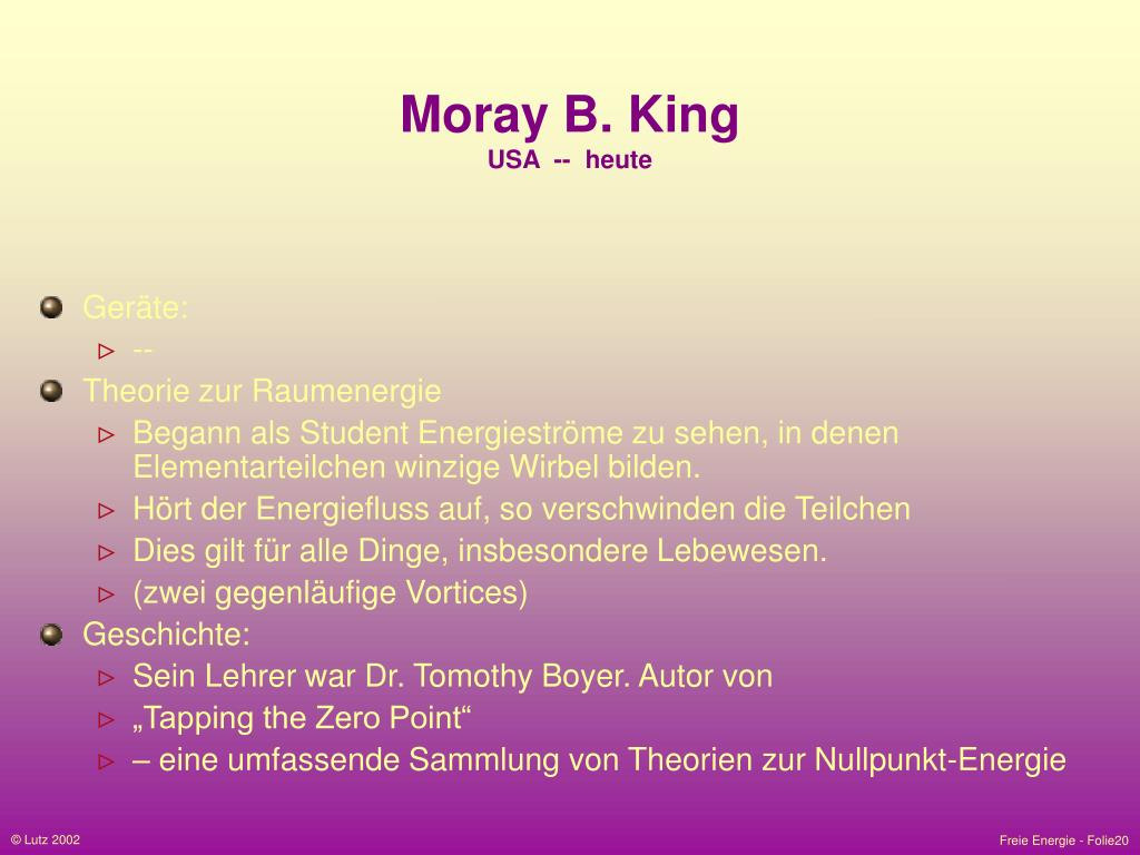 Moray B. King
