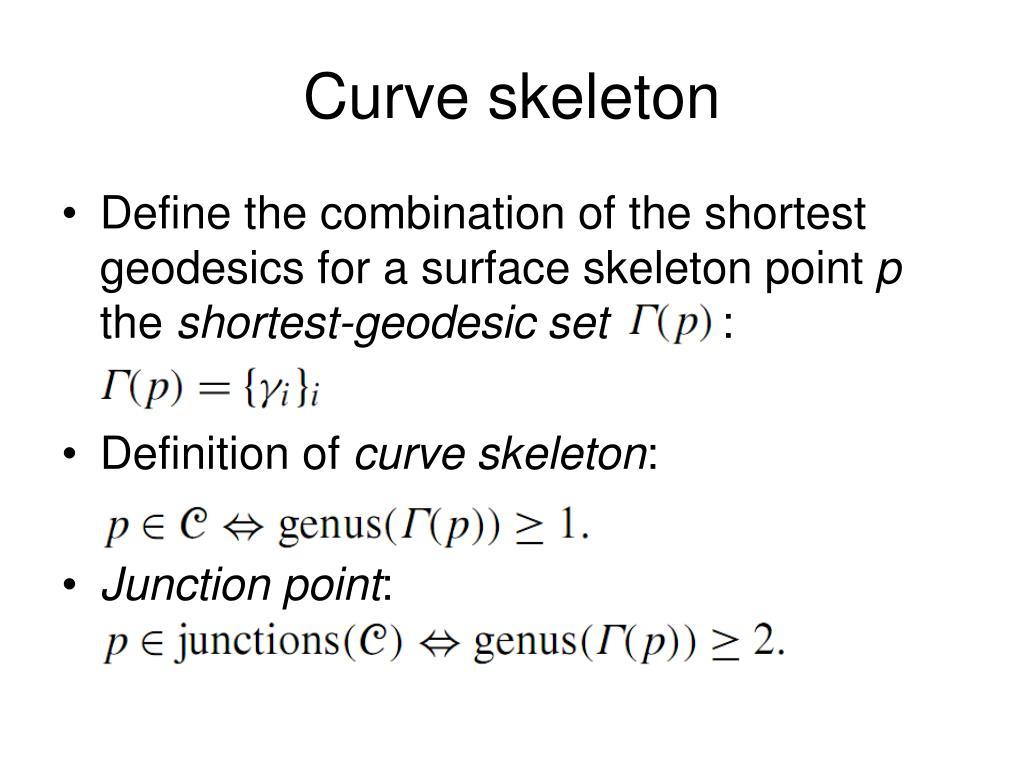 Curve skeleton