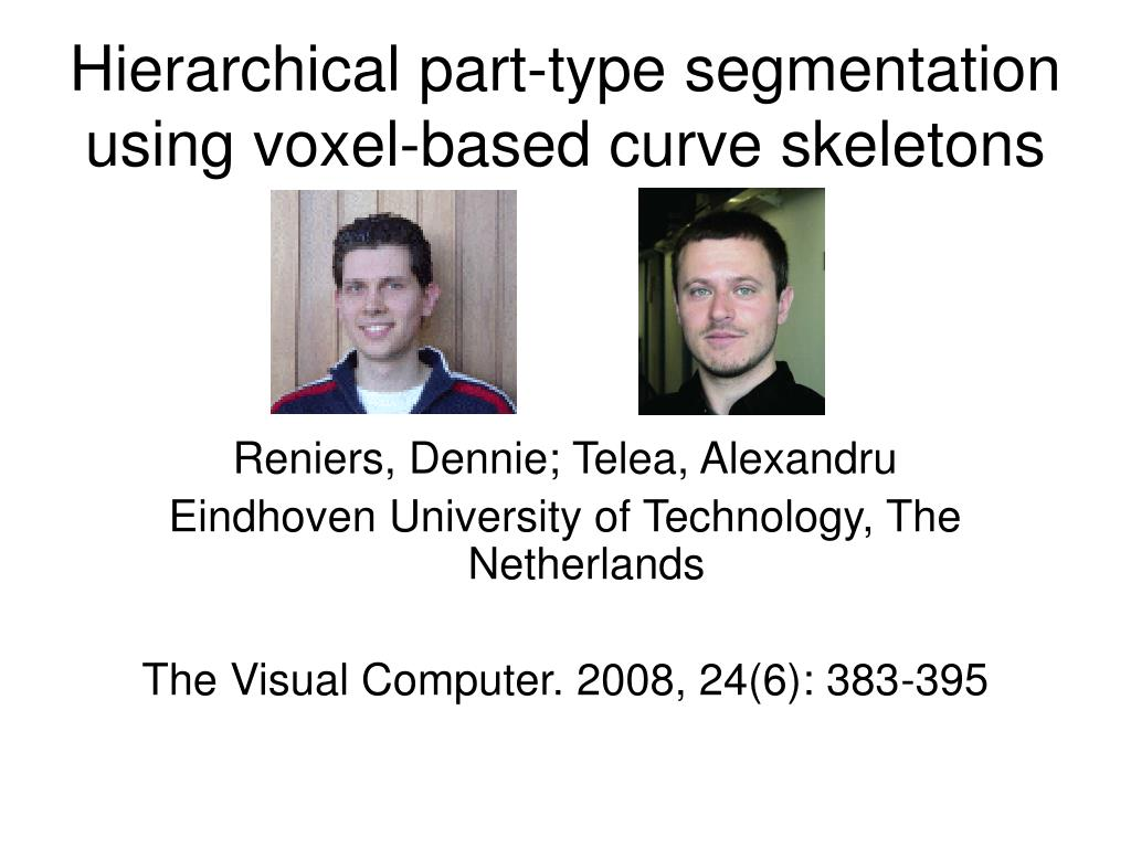 Hierarchical part-type segmentation using voxel-based curve skeletons