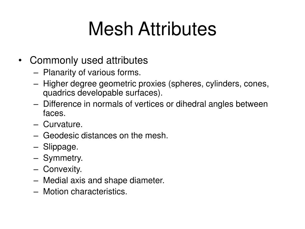 Mesh Attributes