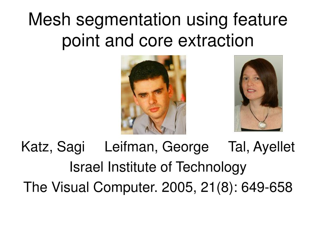Mesh segmentation using feature point and core extraction