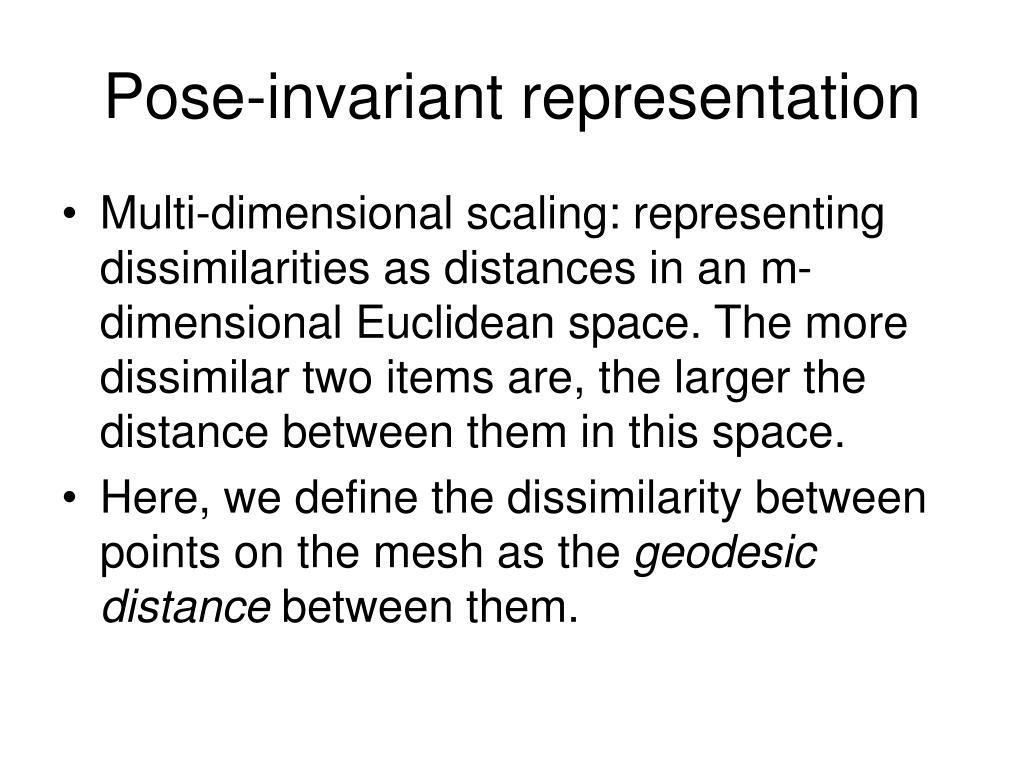 Pose-invariant representation