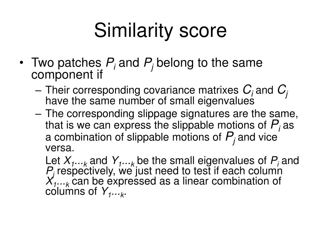 Similarity score