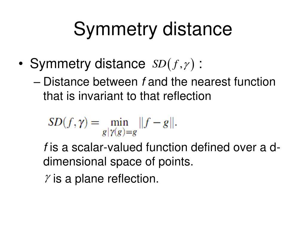 Symmetry distance