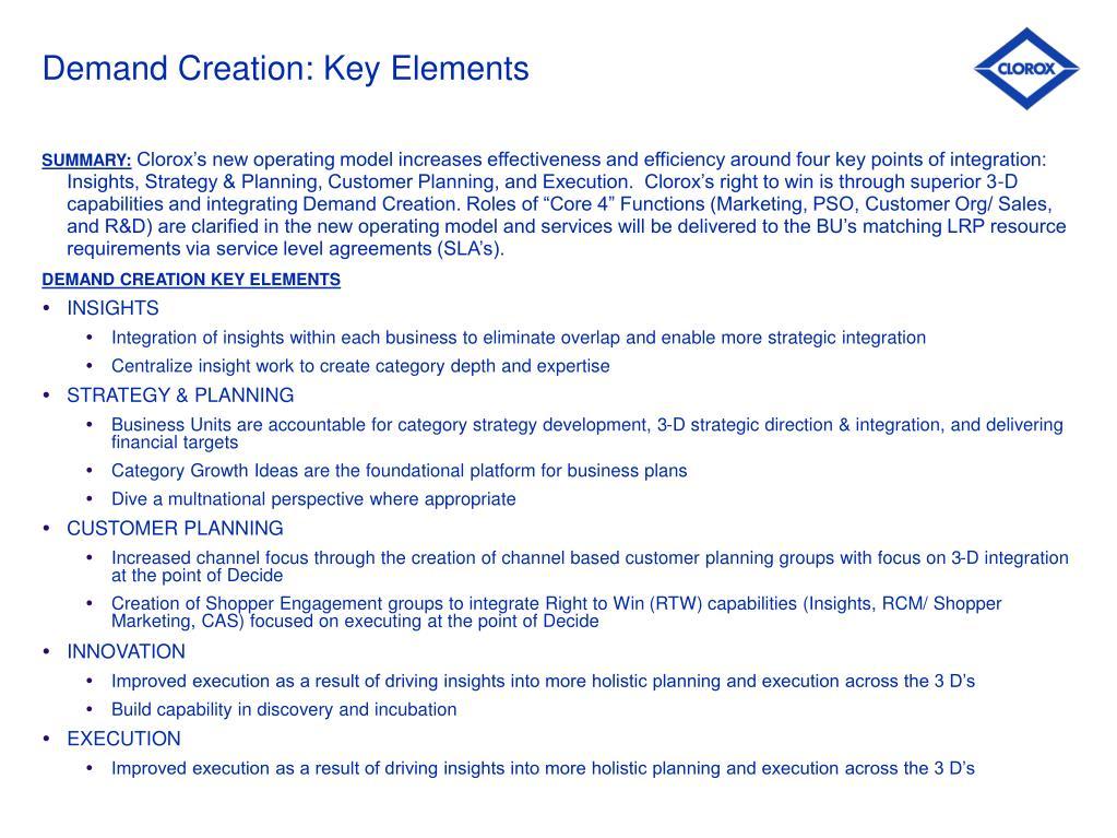Demand Creation: Key Elements
