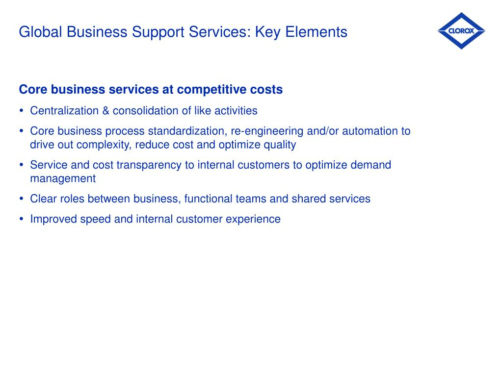 Global Business Support Services: Key Elements