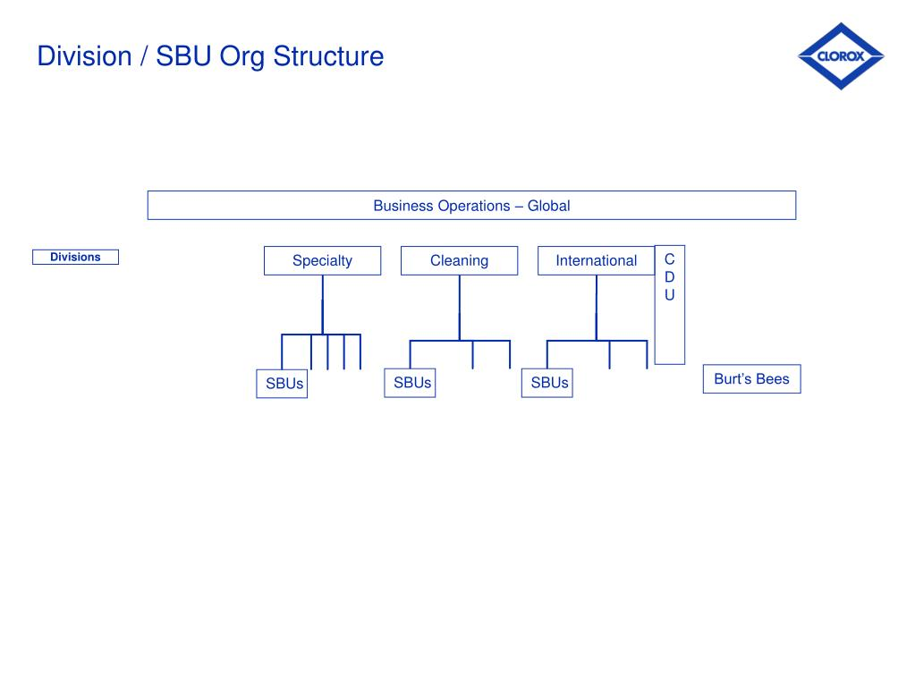 Division / SBU Org Structure
