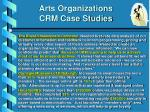 arts organizations crm case studies
