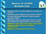 basics of ecapa membership