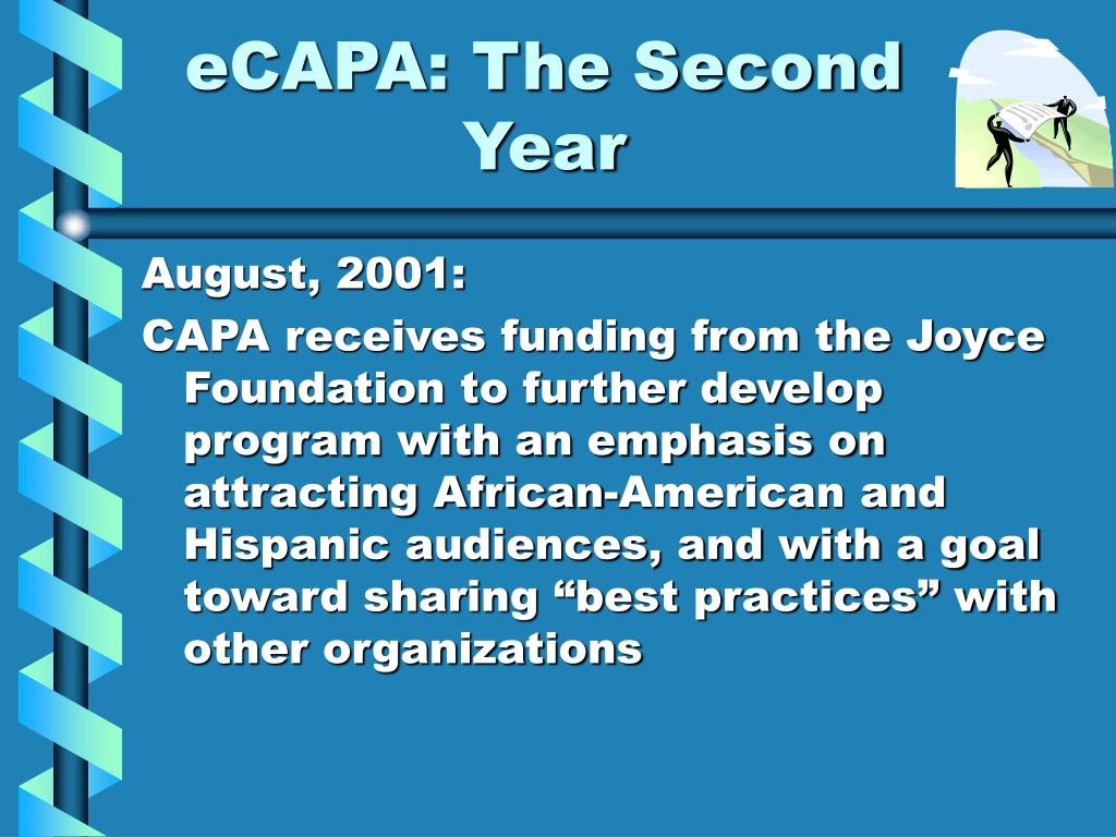 eCAPA: The Second Year